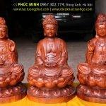 Tây phương Tam Thánh ngồi (Phật A Di Đà, Bồ Tát Quán Thế Âm, Bồ Tát Đại Thế Chí)