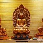 Phật giáo qua tranh: Nhìn hoa sen và nhành dương để nhận ra bộ ba đến từ Tây Phương