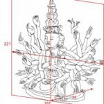Cách ghép gỗ tạo Tượng Phật Bà bà Quân nghìn mắt nghìn tay thế kỷ 17, chùa Bút Tháp