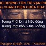 Thư vận động cúng dường Tôn trí Vạn Phật Chánh điện - Chùa Giác Ngộ, TP.HCM