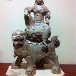 Tượng Phổ Hiền Bồ Tát cưỡi Sư tử xanh lối Đông Mật