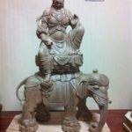 Tượng Phổ Hiền Bồ Tát cưỡi Voi trắng 6 ngà lối Đông Mật
