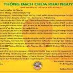 Thông bạch cúng dàng Hệ thống tượng Phật nhà Tam Bảo - Chùa Khai Nguyên, TP. Hà Nội