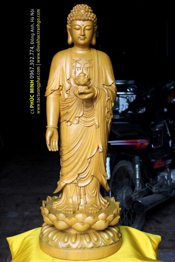 Mẫu Phật A Di Đà đứng tiếp dẫn