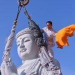 Chùa Huê Nghiêm dựng tượng Phật A Di Đà cao 9m