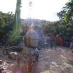 [Lần 1] Công đoạn nâng lắp khối đầu lên thân tượng Phật - Thiền Tôn Phật Quang