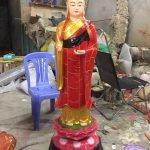 Tặng tượng Địa tạng Vương Bồ tát đứng cao 1.2m nhựa Composite cho Chùa tại TP. Hồ Chí Minh