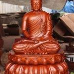 Tôn tượng Phật Thích Ca lối Gandhara ngồi thiền ấn