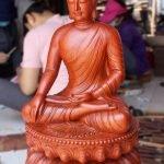 Tôn tượng Phật Thích Ca lối Gandhara bắt ấn xúc địa