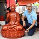 Tôn tượng Phật Thích ca lối Gandhara niêm hoa vi tiếu