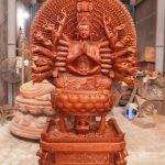 Tôn tượng Thiên Thủ Thiên Nhãn Thập Nhất Diện Quán thế âm Bồ tát ngồi 42 thủ ấn Thiền theo lối thế kỷ 17, Chùa Bút Tháp