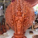 Tôn tượng Thiên Thủ Thiên Nhãn Thập Nhất Diện Quán thế âm Bồ tát đứng 42 thủ ấn Mật tông